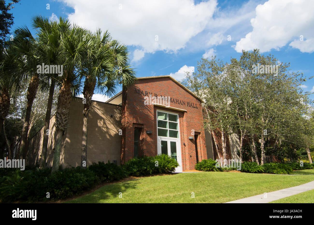 Deland Florida Stetson University college Mary McMahan Music Hall de petite ville Banque D'Images