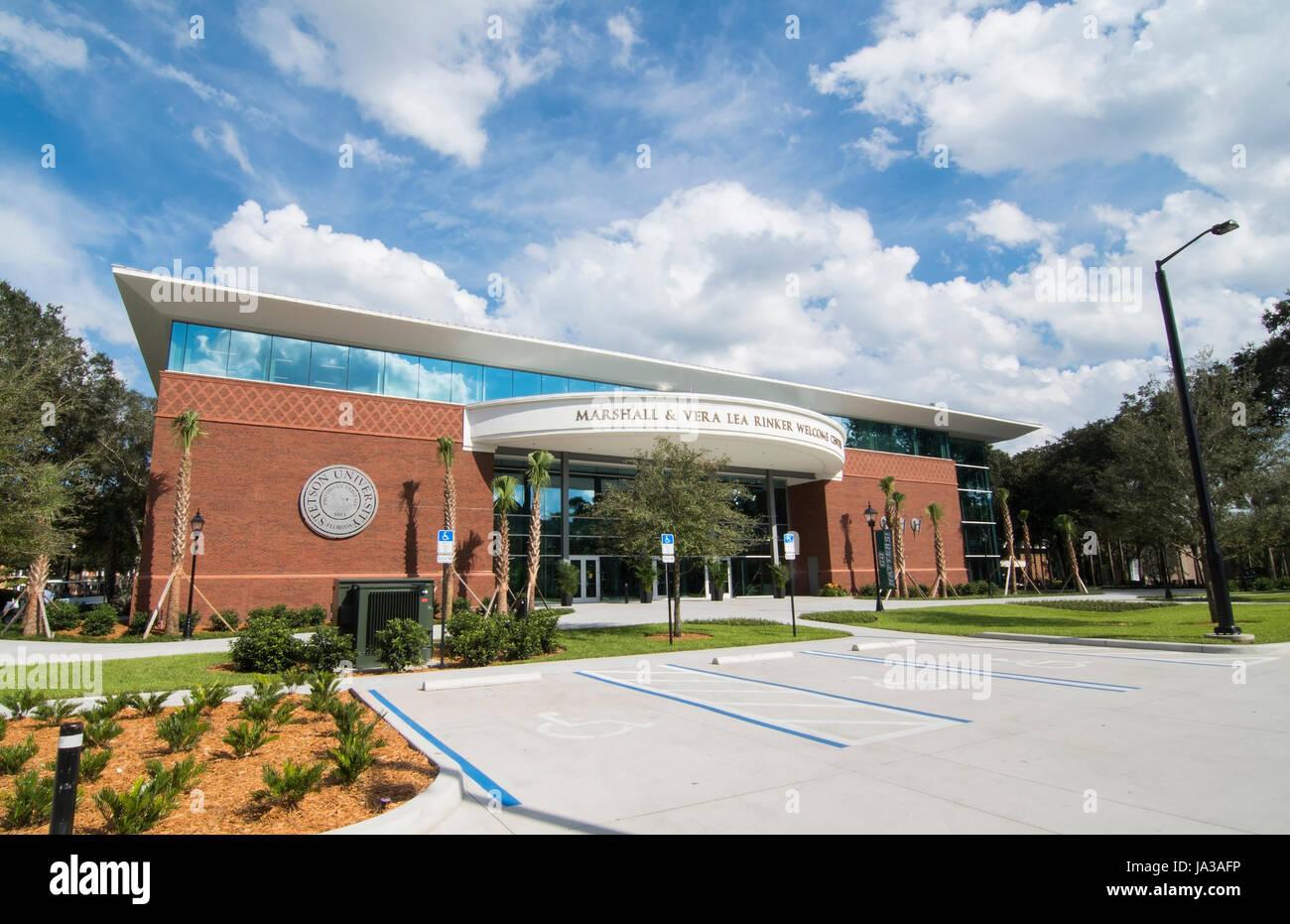 Deland Florida Stetson University college Marshall & Veralea Rinkert Centre Bienvenue dans une petite ville de l'éducation, Banque D'Images