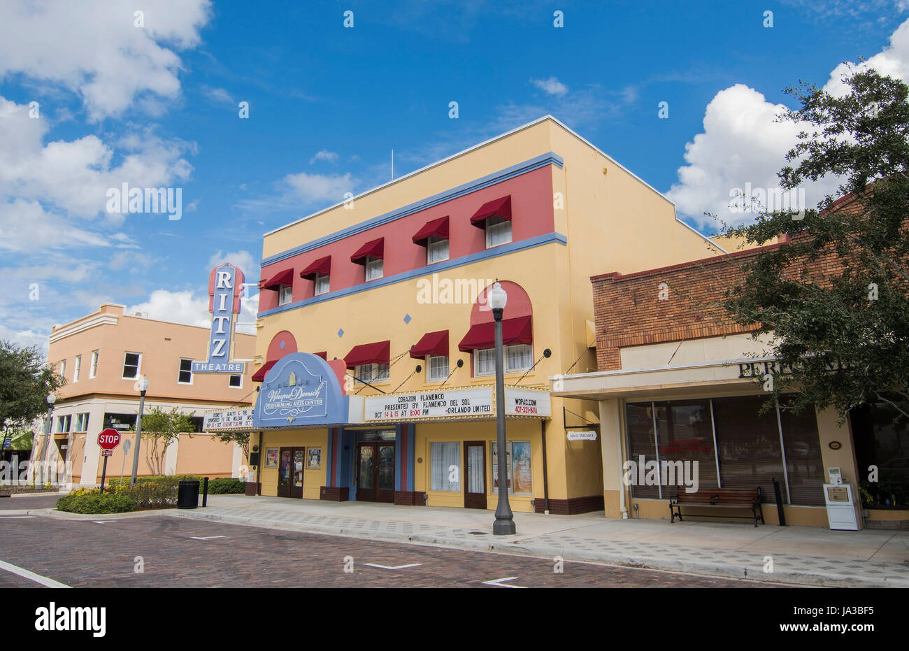 Sanford Florida Centre-ville de Ritz Theater Wayne Densch construction divertissement pour les spectacles monument Banque D'Images