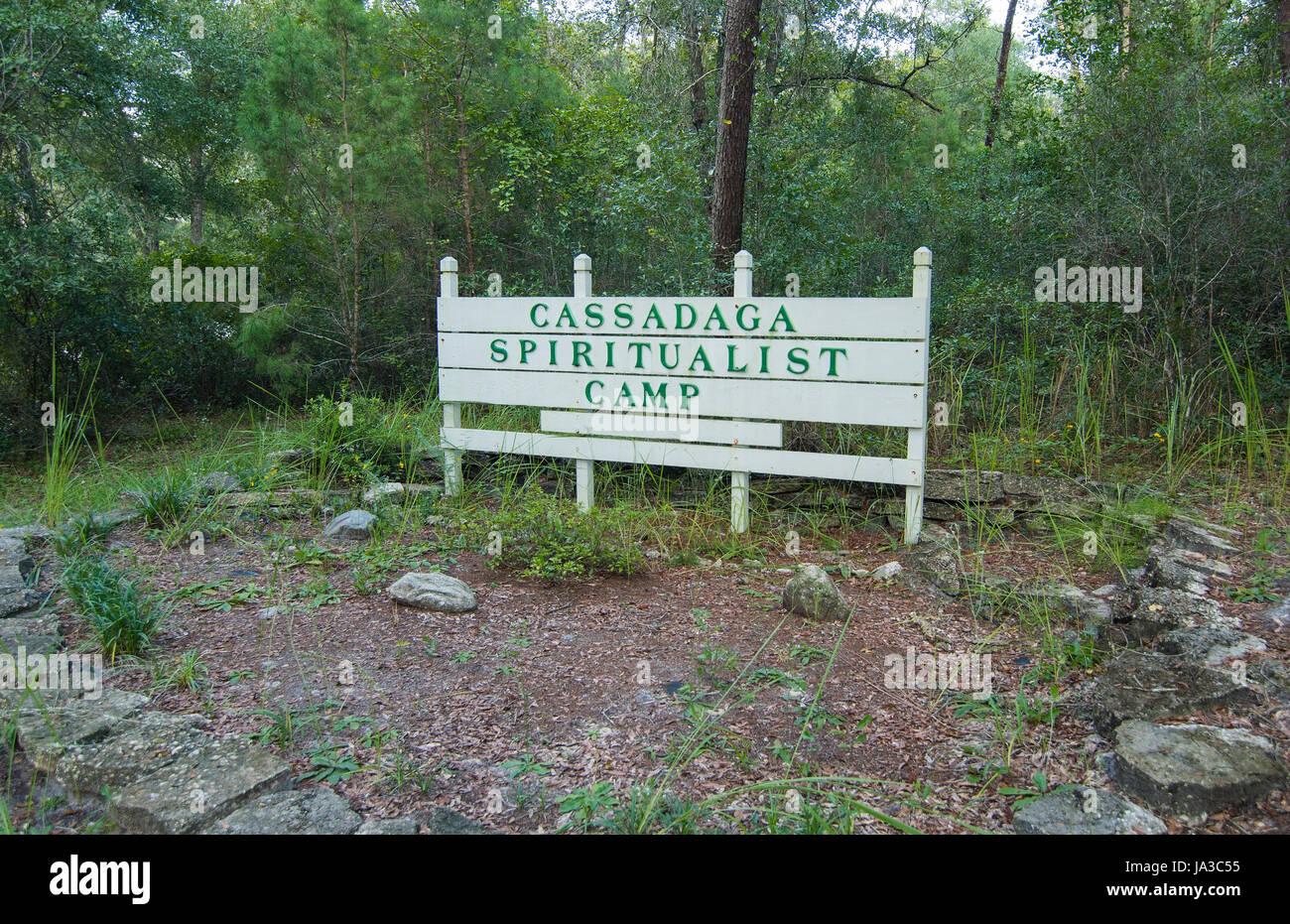 Floride Cassadaga Cassadaga spiritualiste de Baix Camp ville de voyants et mediums dans le comté de Volusia, Banque D'Images