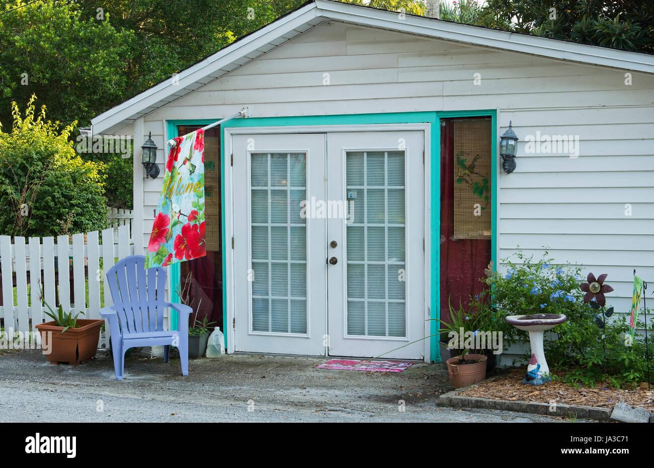 Cassadaga spiritualiste Floride Ville de voyants et médiums petites maisons dans le comté de Volusia, Banque D'Images