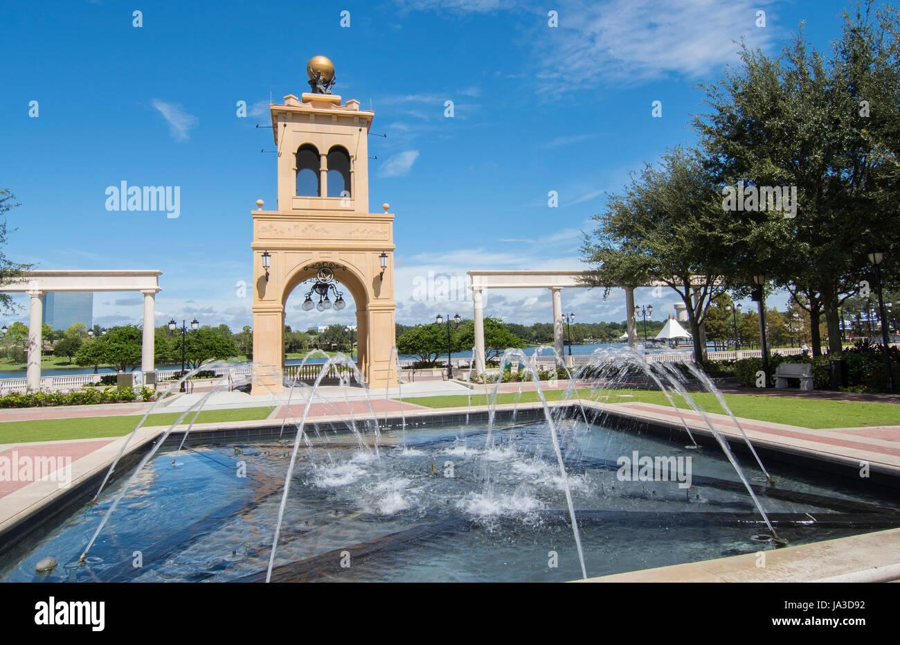 Altamonte Springs Florida rôti Grues Uptown monument salon dans les magasins et centre commercial, Banque D'Images
