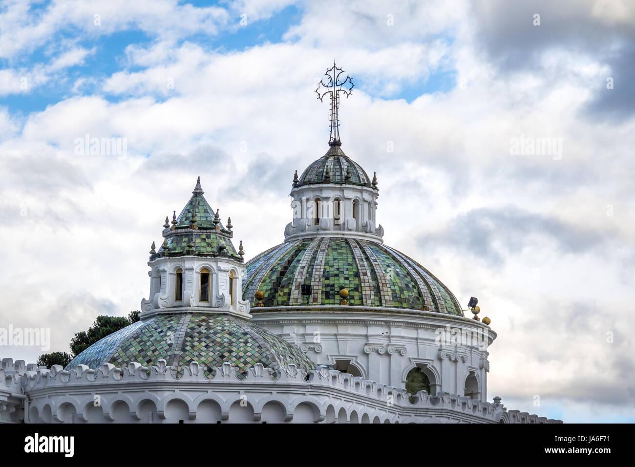 Dôme de la Cathédrale Métropolitaine - Quito, Équateur Photo Stock