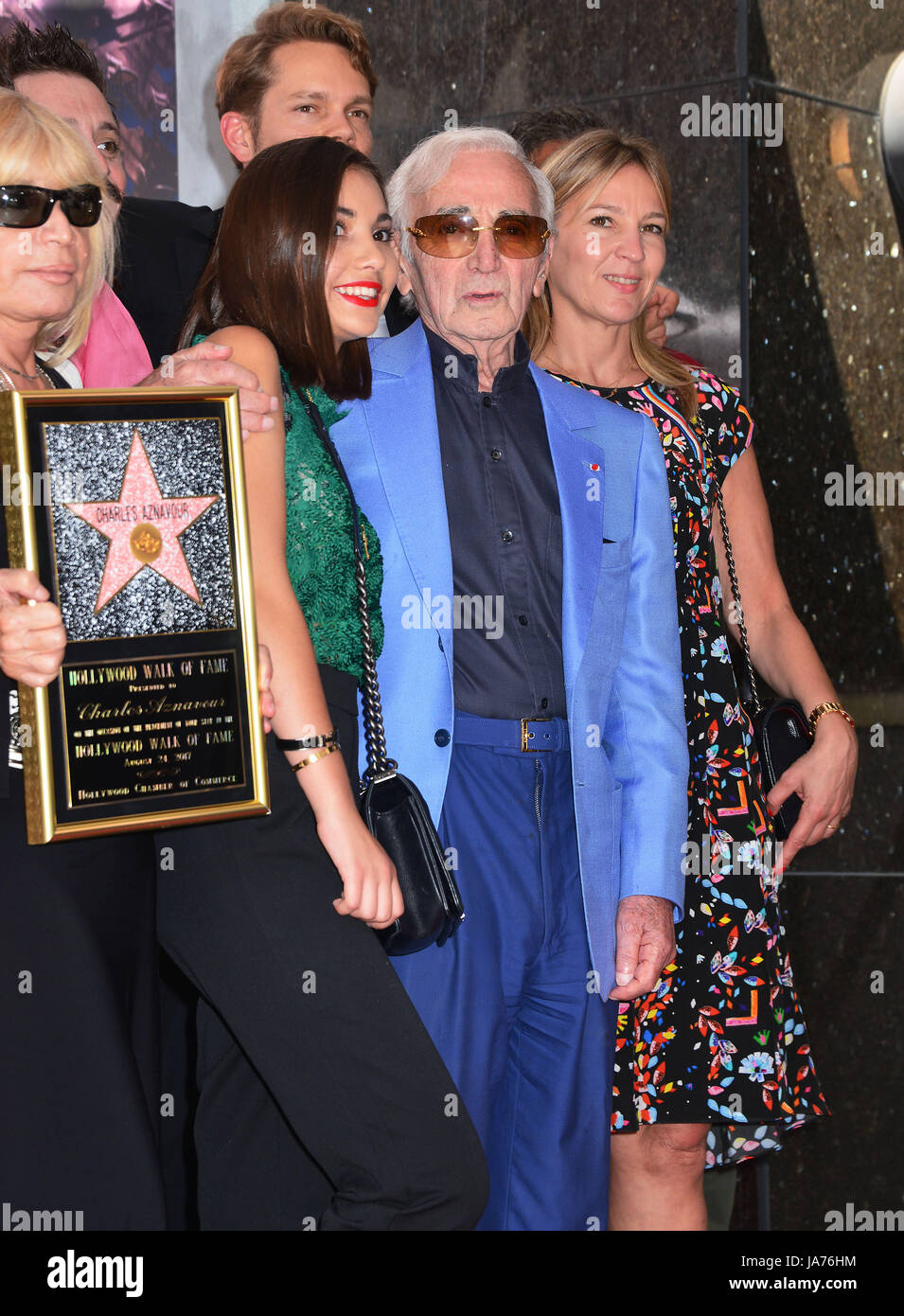 Los Angeles Usa Août 24 2017 Charles Aznavour Star 015