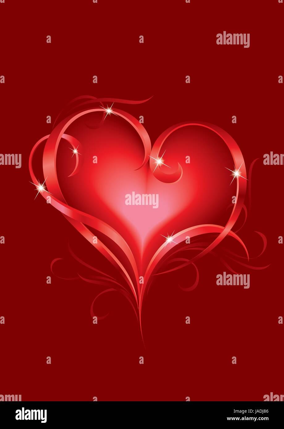Carte de voeux de la Saint-Valentin avec coeurs abstrait Banque D'Images