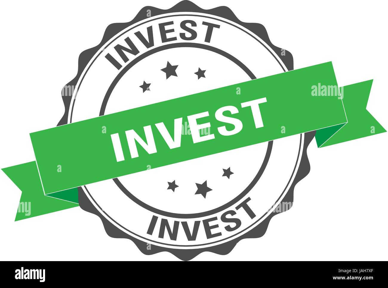 Investir stamp illustration Photo Stock