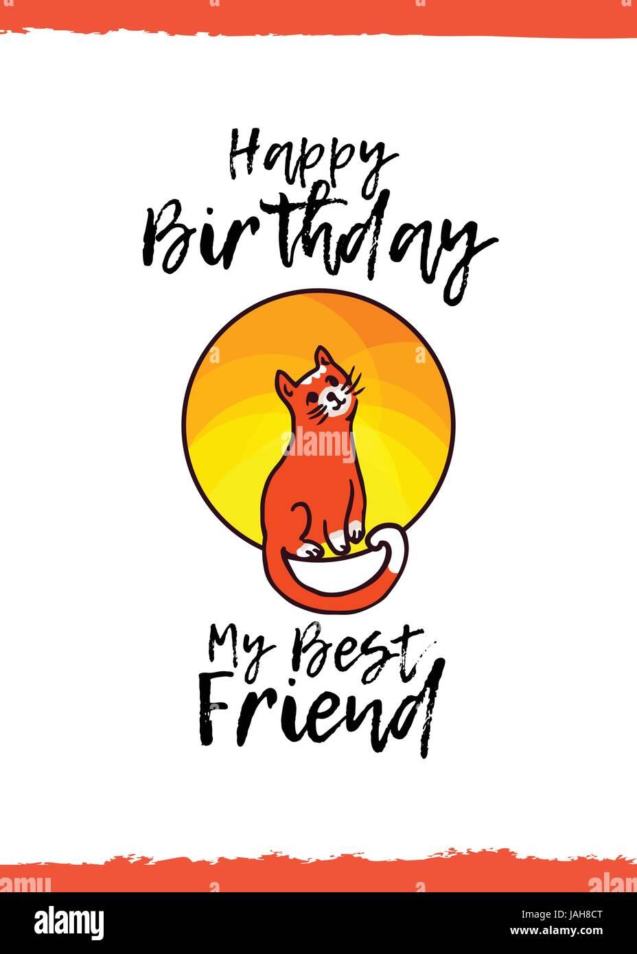 Joyeux Anniversaire Mon Meilleur Ami Carte De Souhaits Avec Un