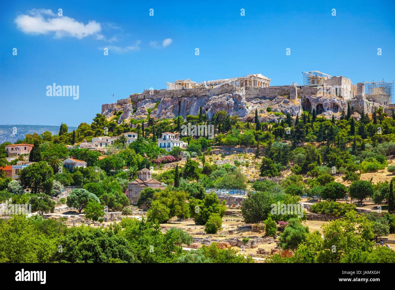 Acropole à Athènes, Grèce Banque D'Images
