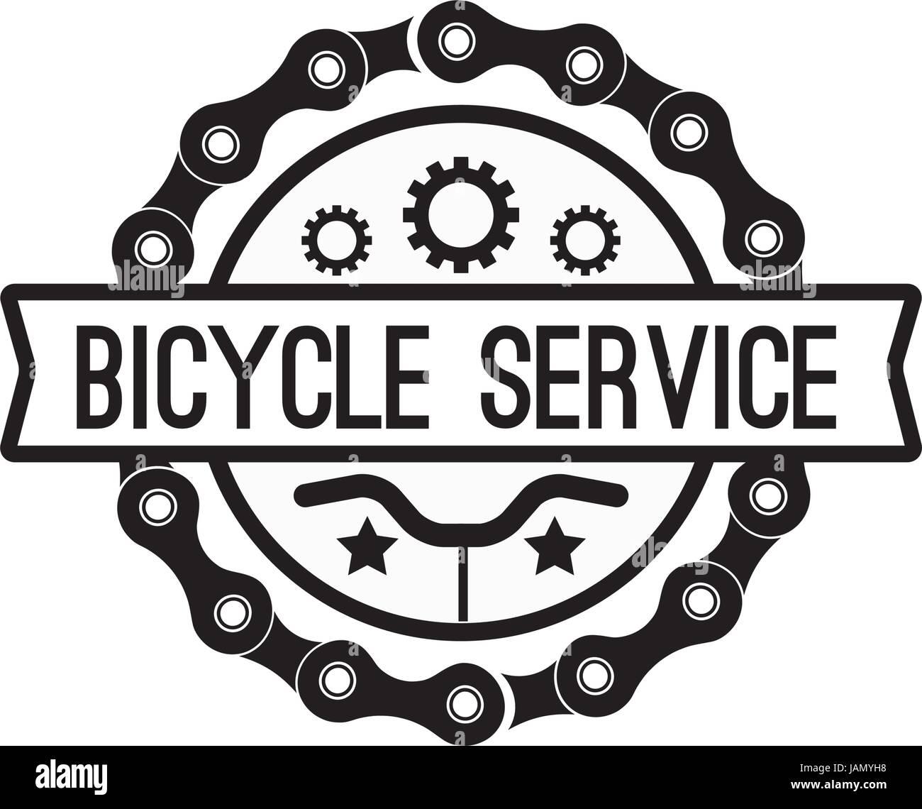 Bien-aimée Un service de vélos vintage badge. Logo sport autocollant pour @FA_01