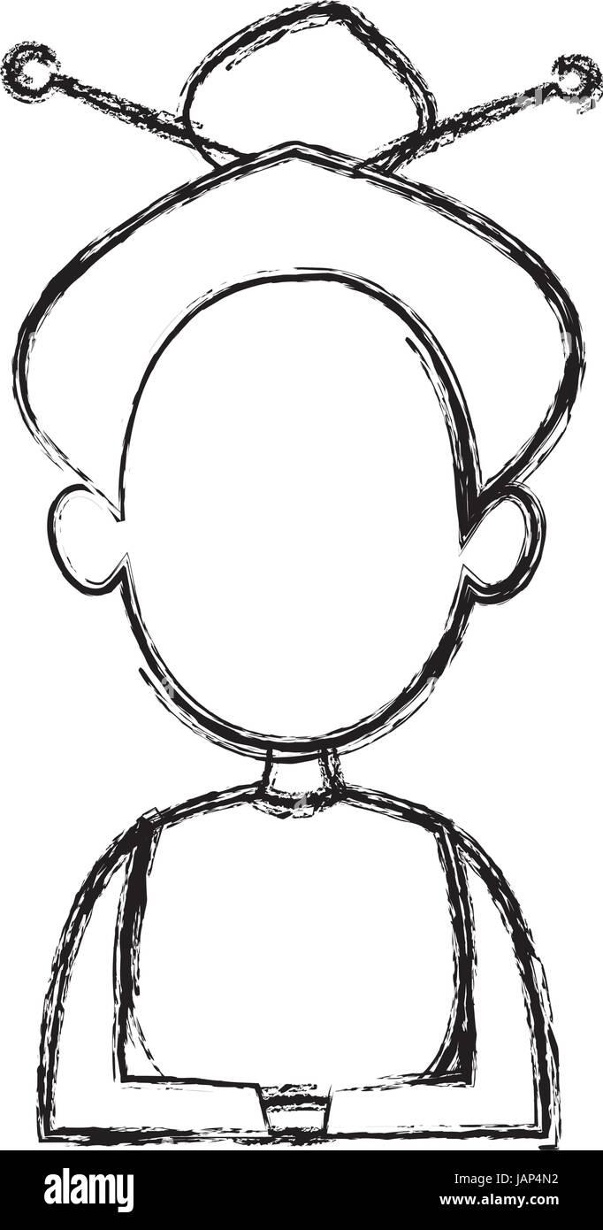 Dessiner Une Silhouette De Femme dessin silhouette de femme sans visage corps demi-hairstyle vector