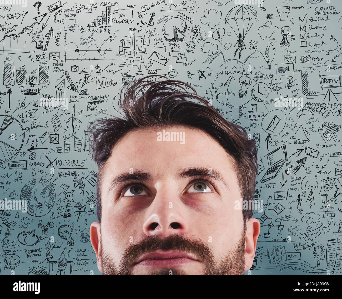 Nouvelle entreprise idée créative d'un projet Banque D'Images