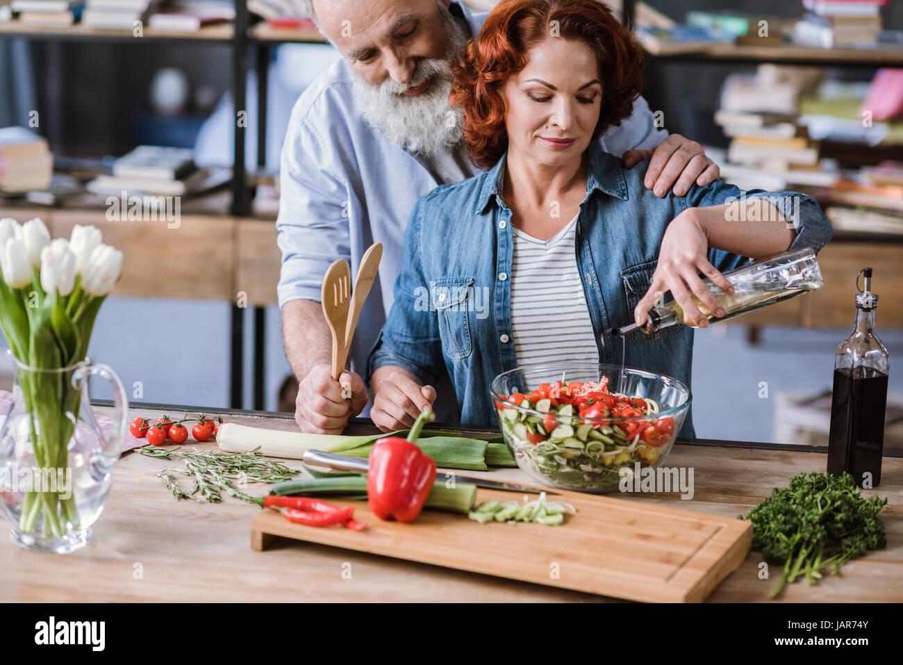 Couple de légumes grillés Photo Stock