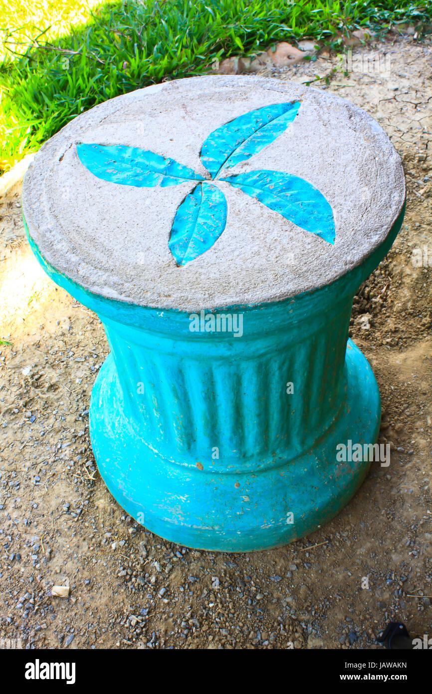 Imprimer des feuilles sur le ciment en fauteuil jardin ...