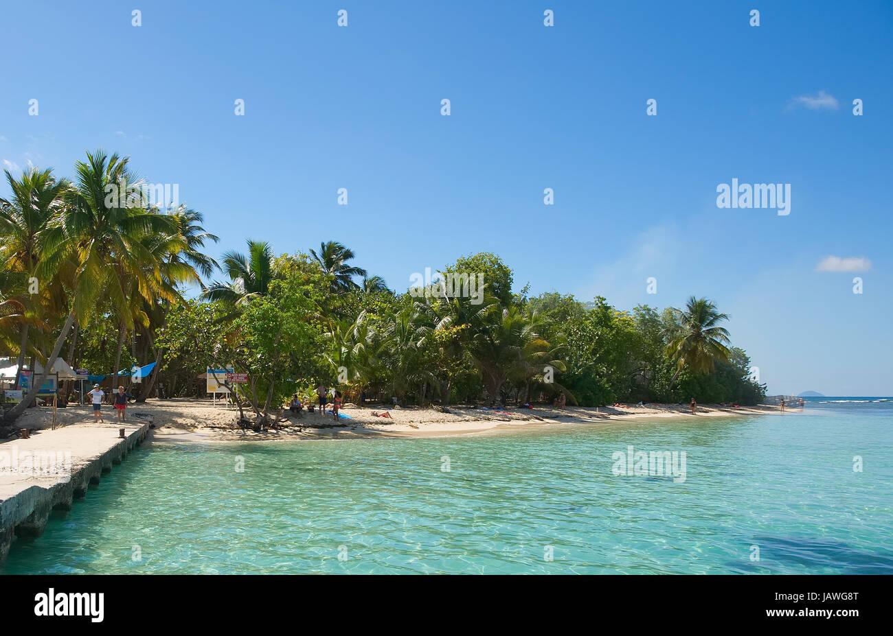 Ilet du gosier - Gosier - Le Gosier - Guadeloupe île des Caraïbes Photo Stock