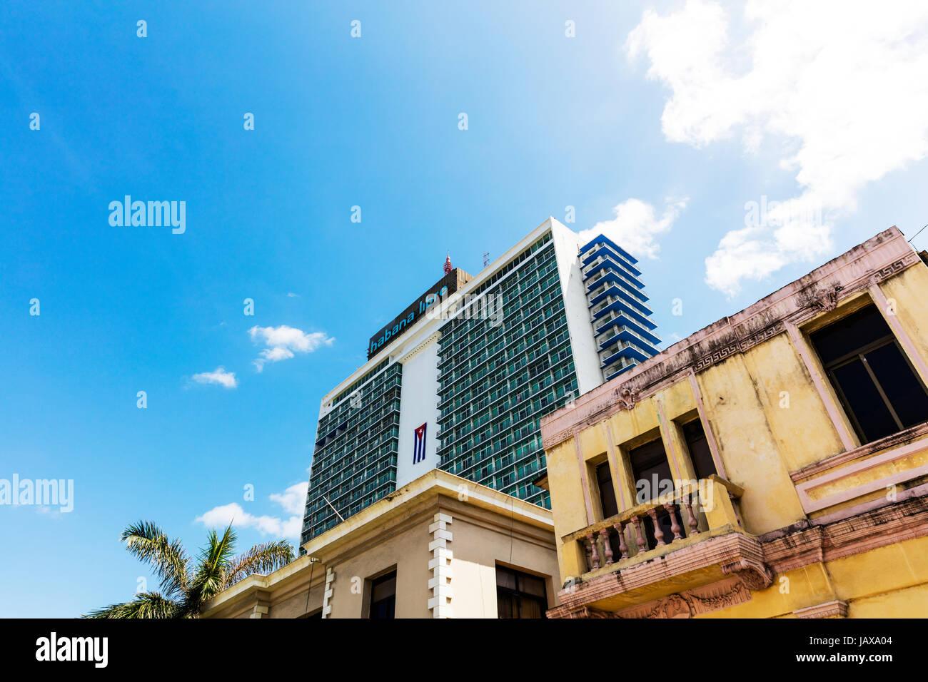 L'hôtel Habana Libre La Havane, Cuba, Centro Habana, La Havane, Centro La Rampa , hôtel Habana Libre, Photo Stock