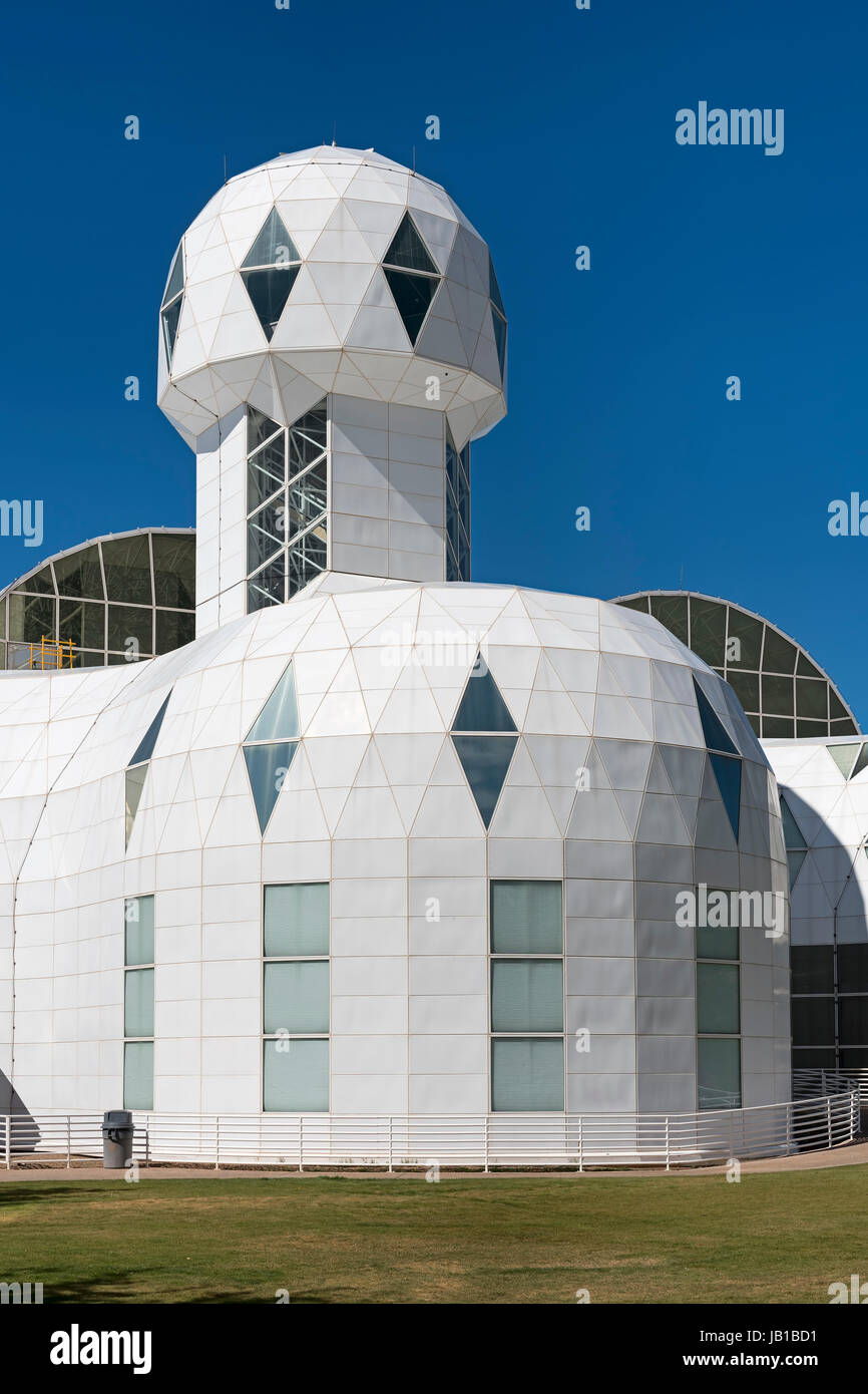 Biosphère 2, écosystème autonome, Oracle, Arizona, USA Photo Stock