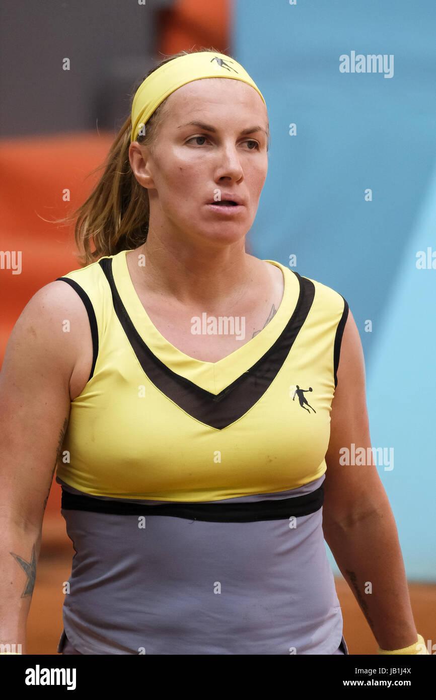 Svetlana Kuznetsova de Russie contre Alison Riske des Etats-Unis au cours de la troisième journée de la Photo Stock