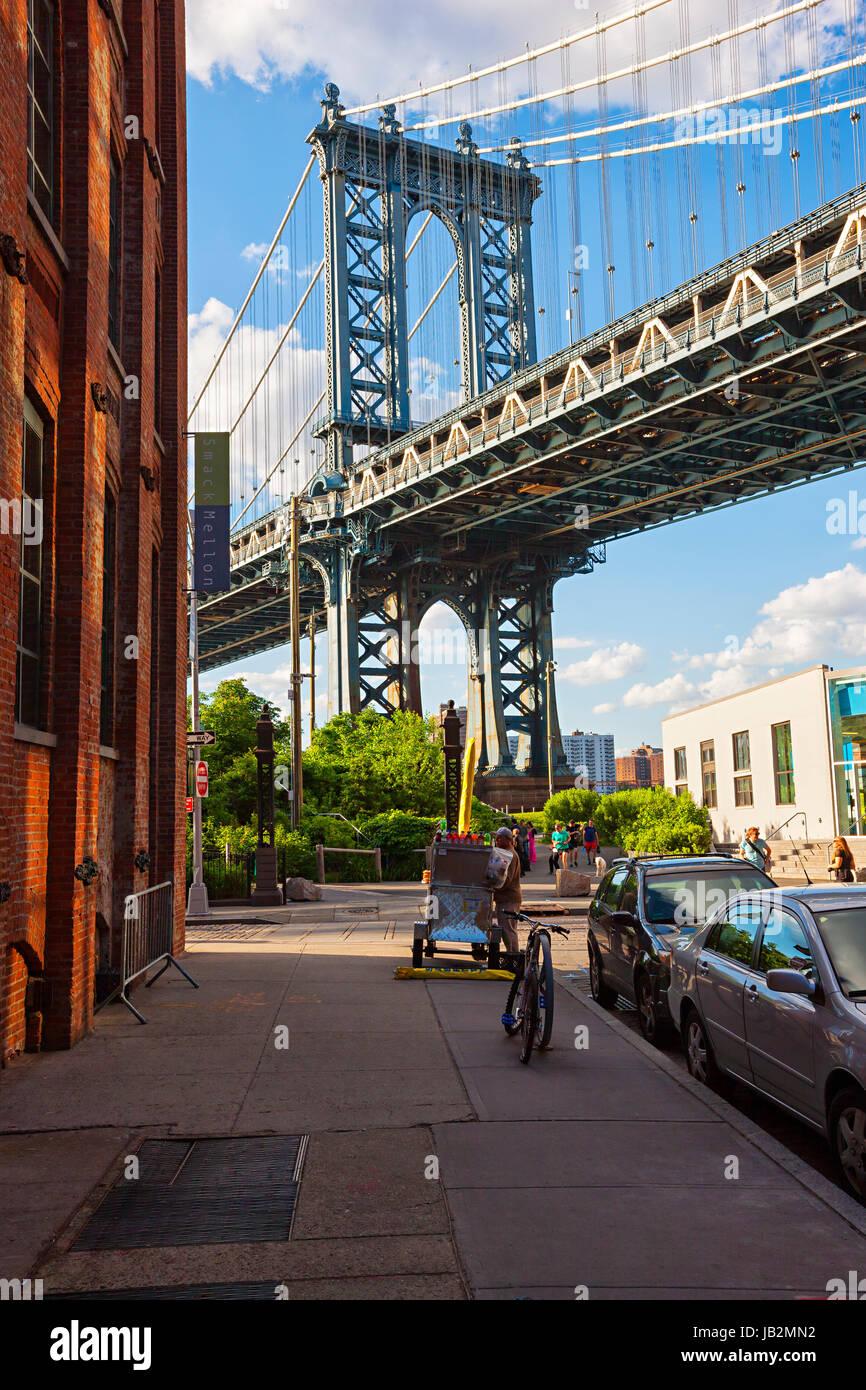 Pont de Manhattan, Brooklyn, New York City Photo Stock