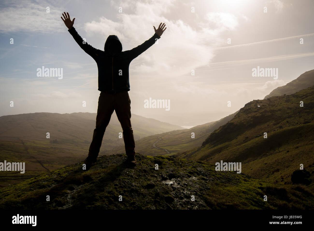 Sentiment de réalisation concept Photo Stock