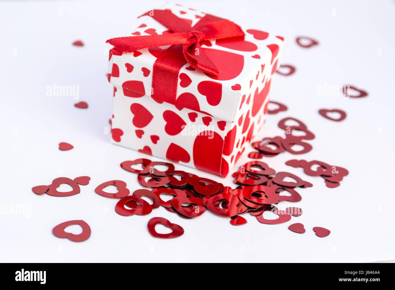 Don avec coeur rouge Photo Stock