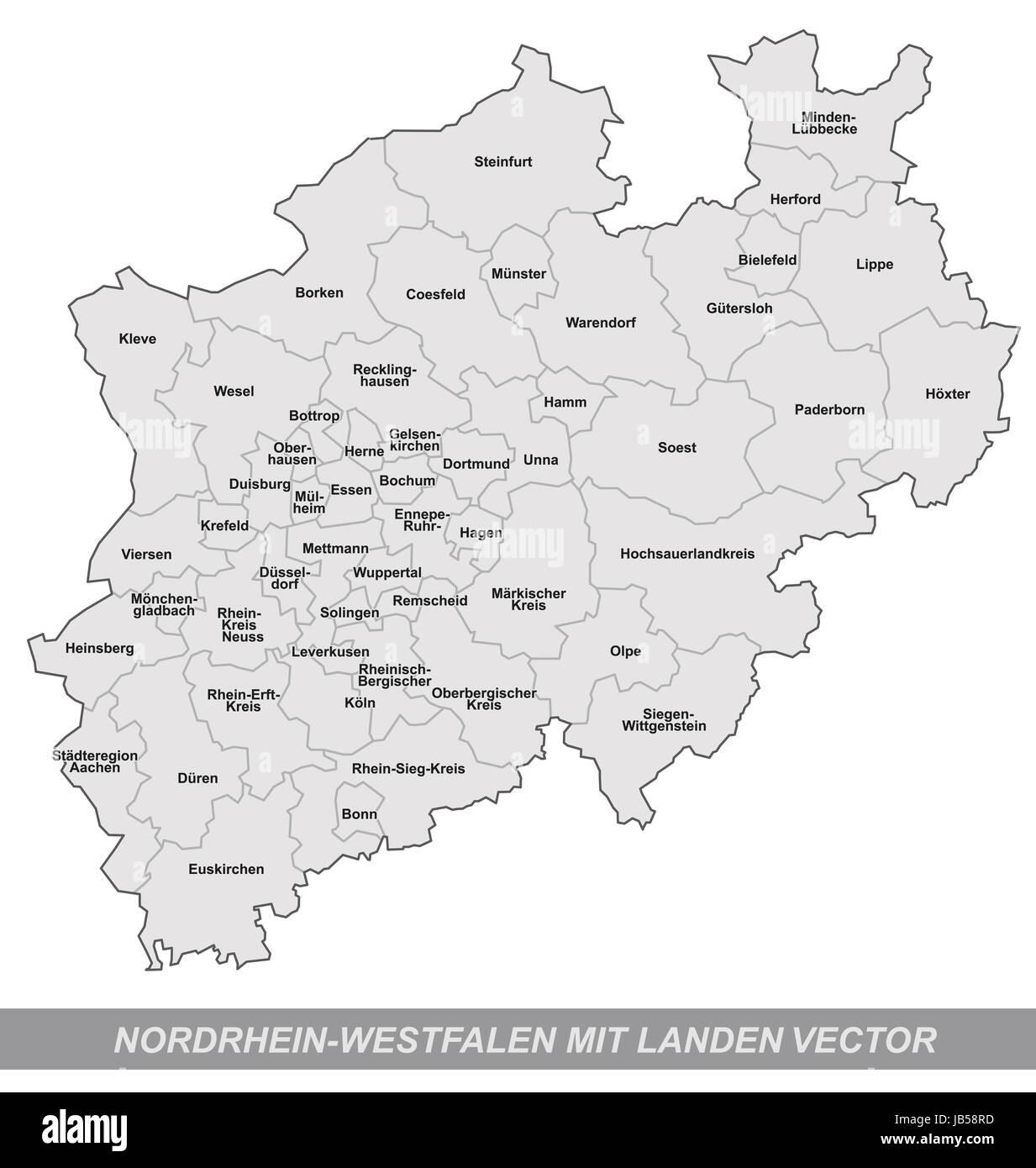 Nordrhein Westfalen Karte.Dans Inselkarte Nordrhein Westfalen Deutschland Als Mit