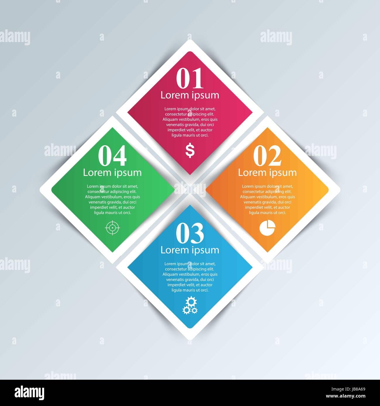 Les infographies origami Vector illustration. Illustration de Vecteur