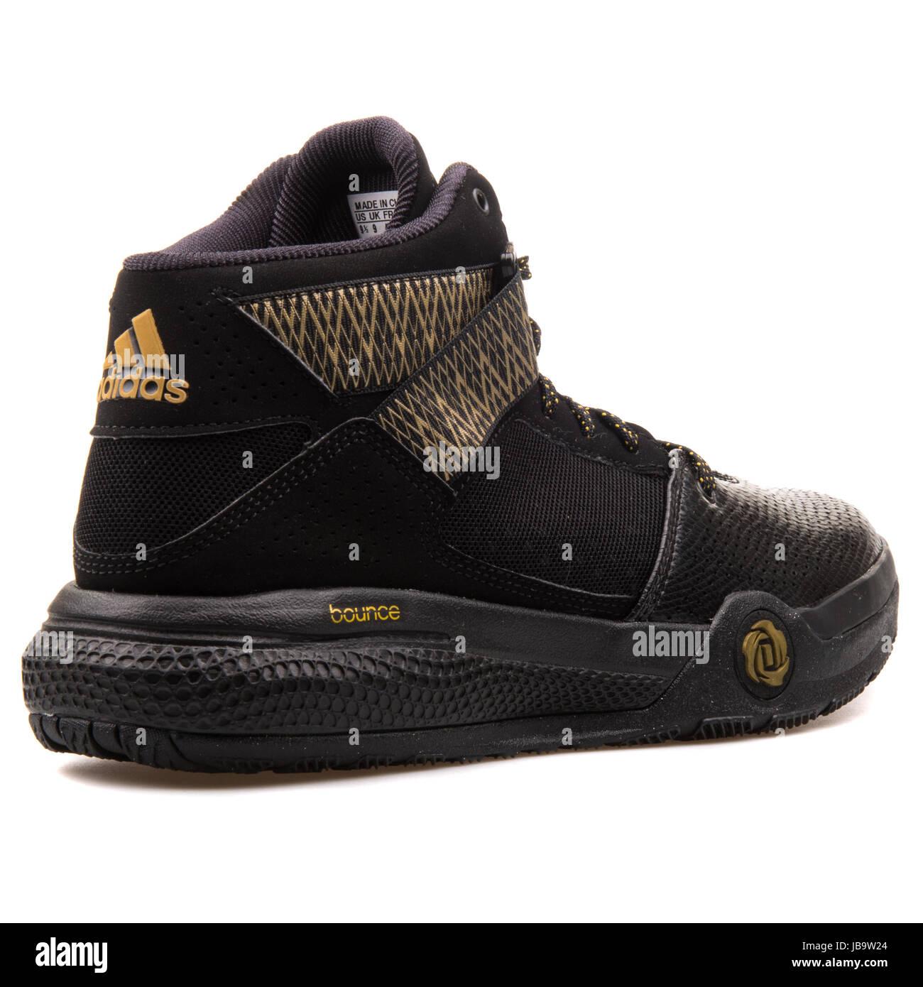 basket adidas noir et or rose