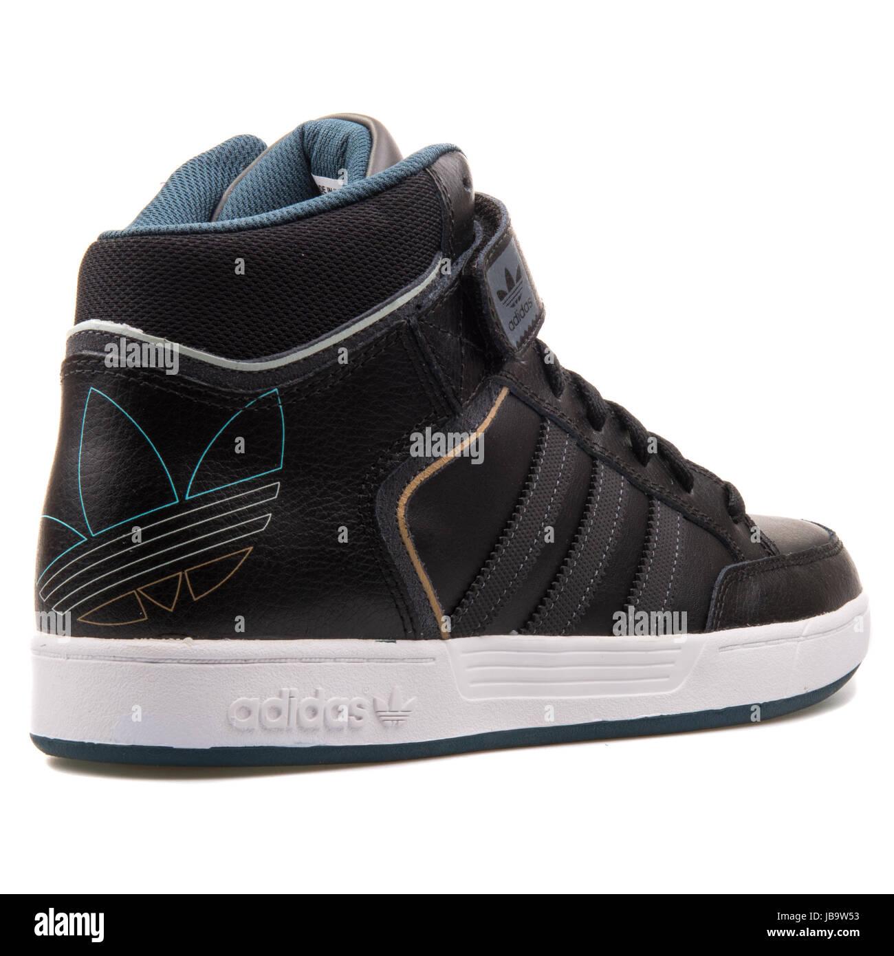 Hommes Basket Cuir Chaussures Varial Mid Ball Noir De Adidas vOmNy80wn