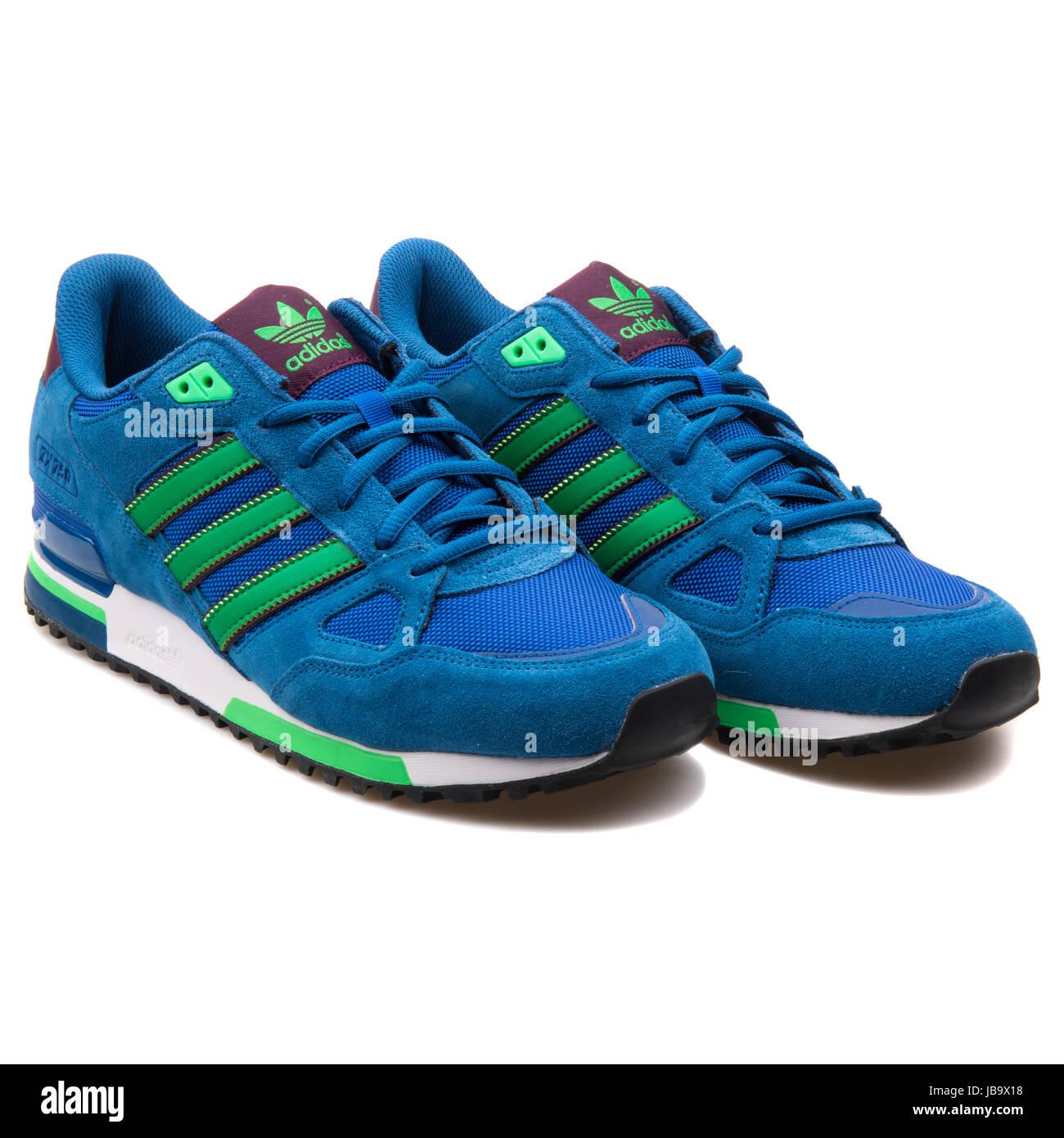 Adidas ZX 750 Bleu et Vert Men's Sports Sneakers - B24857 Photo ...