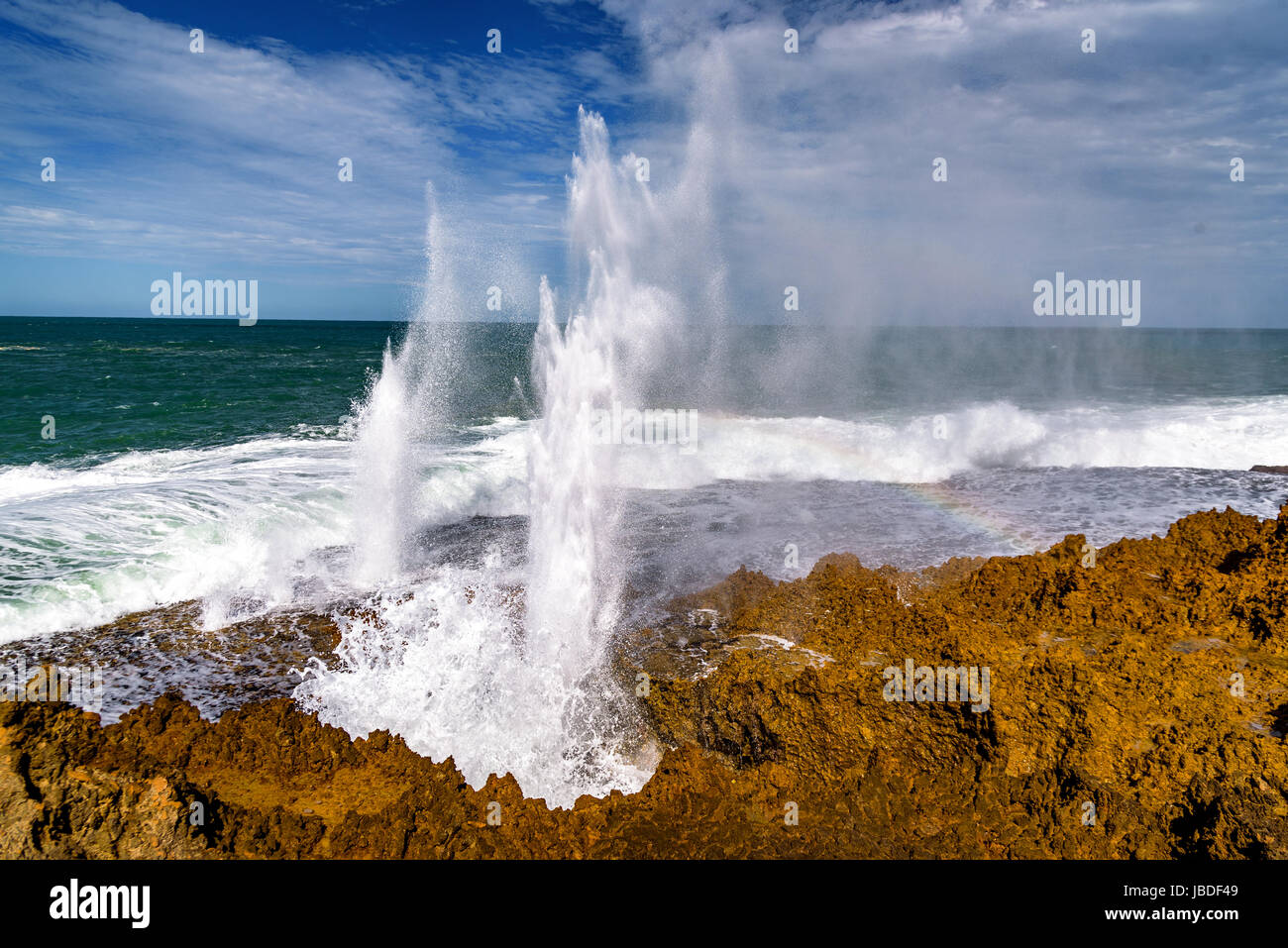 Coup Quobba Australie Occidentale, trous Photo Stock