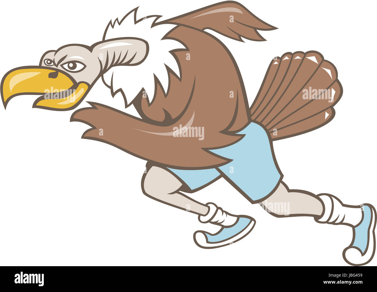 Illustration D Un Condor Buzzard Vautours Runner Courir Un