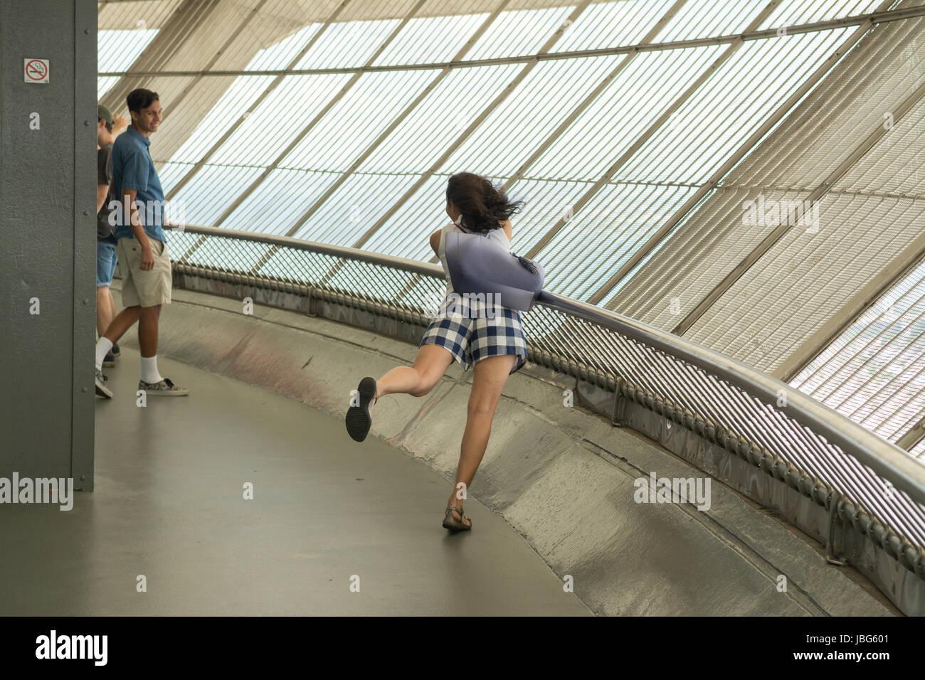 CN Tower Toronto piscine terrasse observation deck, Toronto, Ontario, Canada Photo Stock
