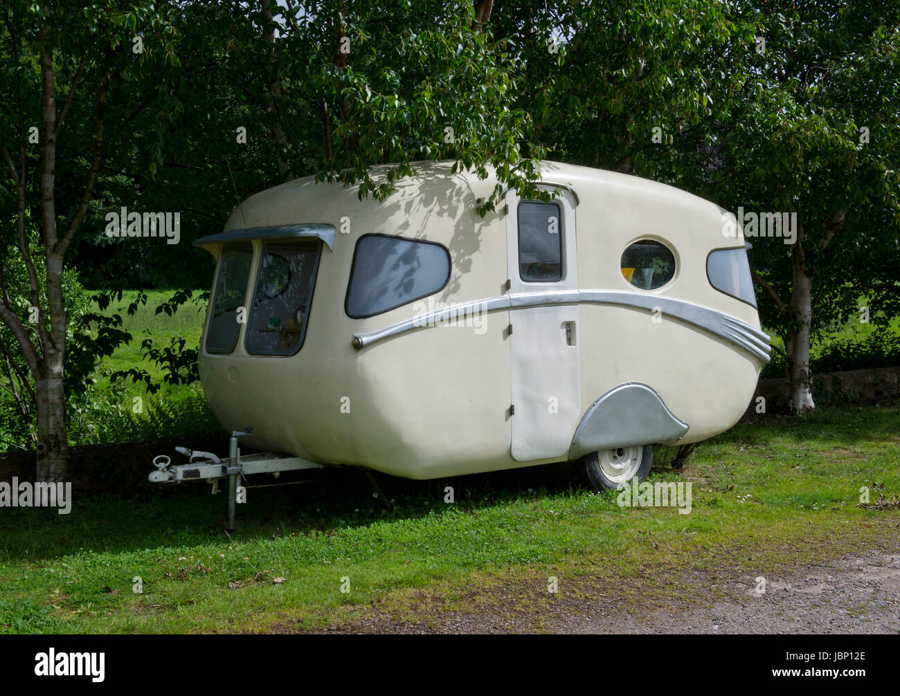 Une caravane Willerby 1954 Vogue Anglais Photo Stock