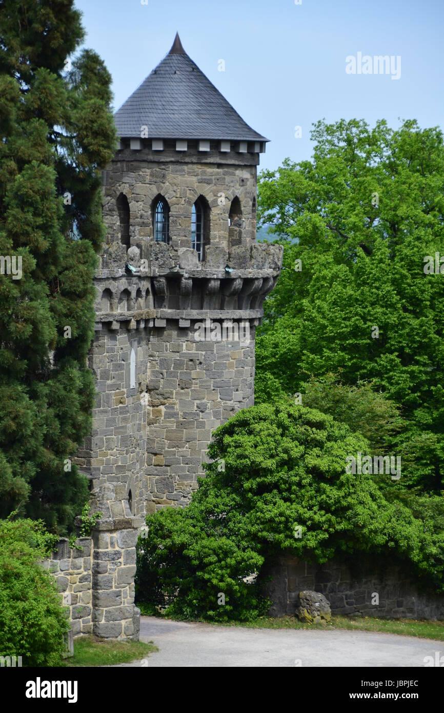 Le château du lion à Kassel Banque D'Images