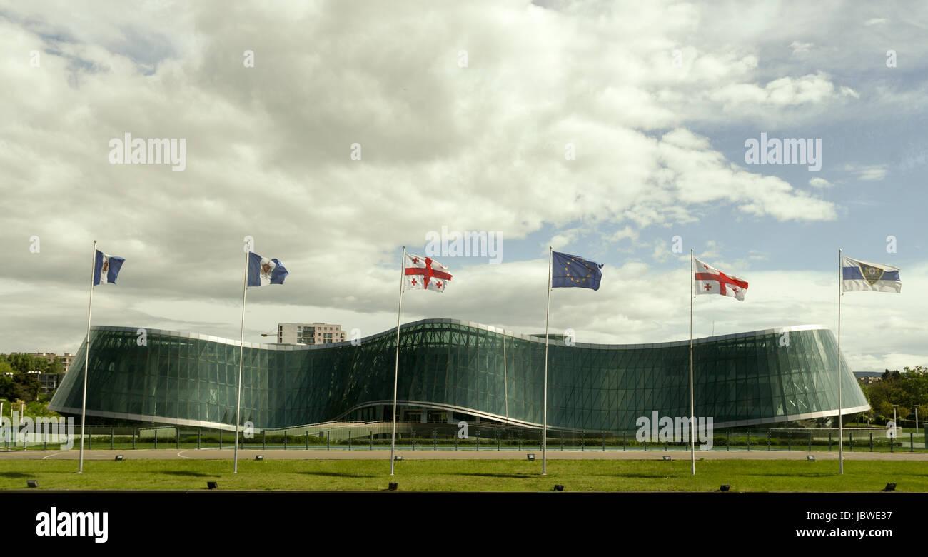 L'architecture moderne à Tbilissi, Géorgie Banque D'Images