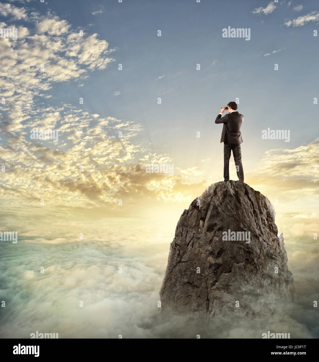 Pour de nouvelles recherches d'affaires horizon, de nouvelles occasions d'affaires Banque D'Images