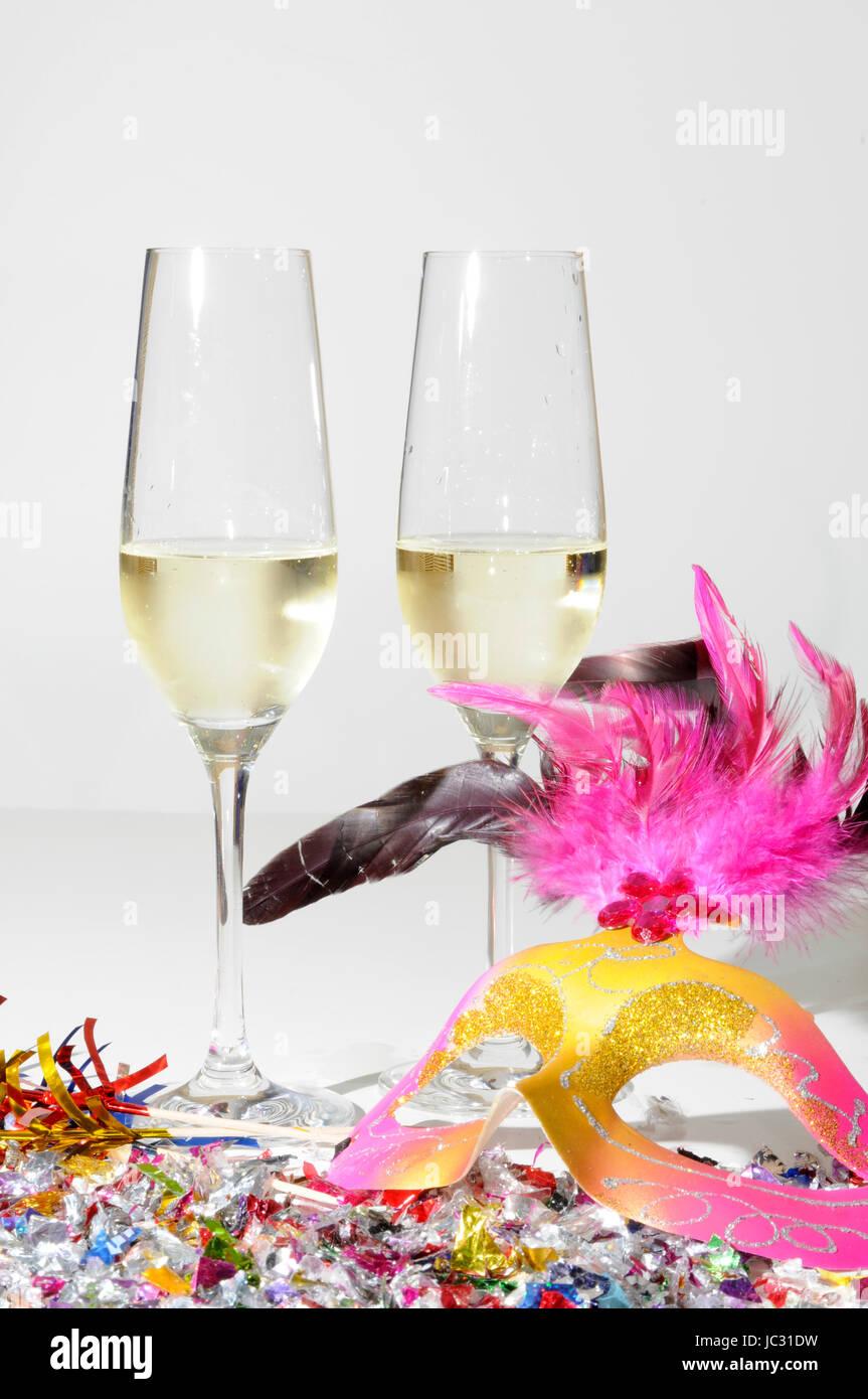 Sekt Silvester Neujahr Sektglaser Jubilaum Champagner Feier
