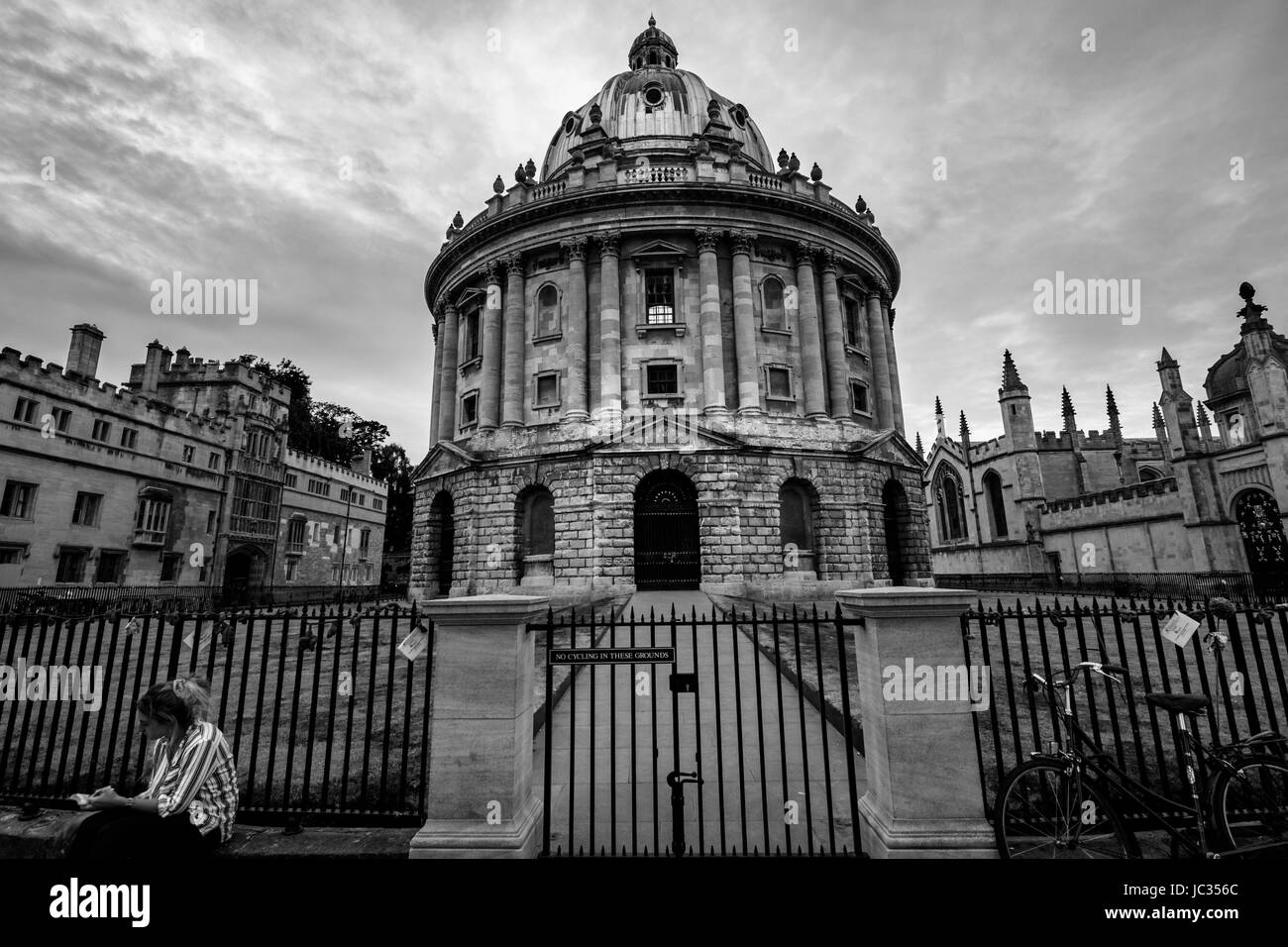 Les bâtiments de l'université d'Oxford Photo Stock