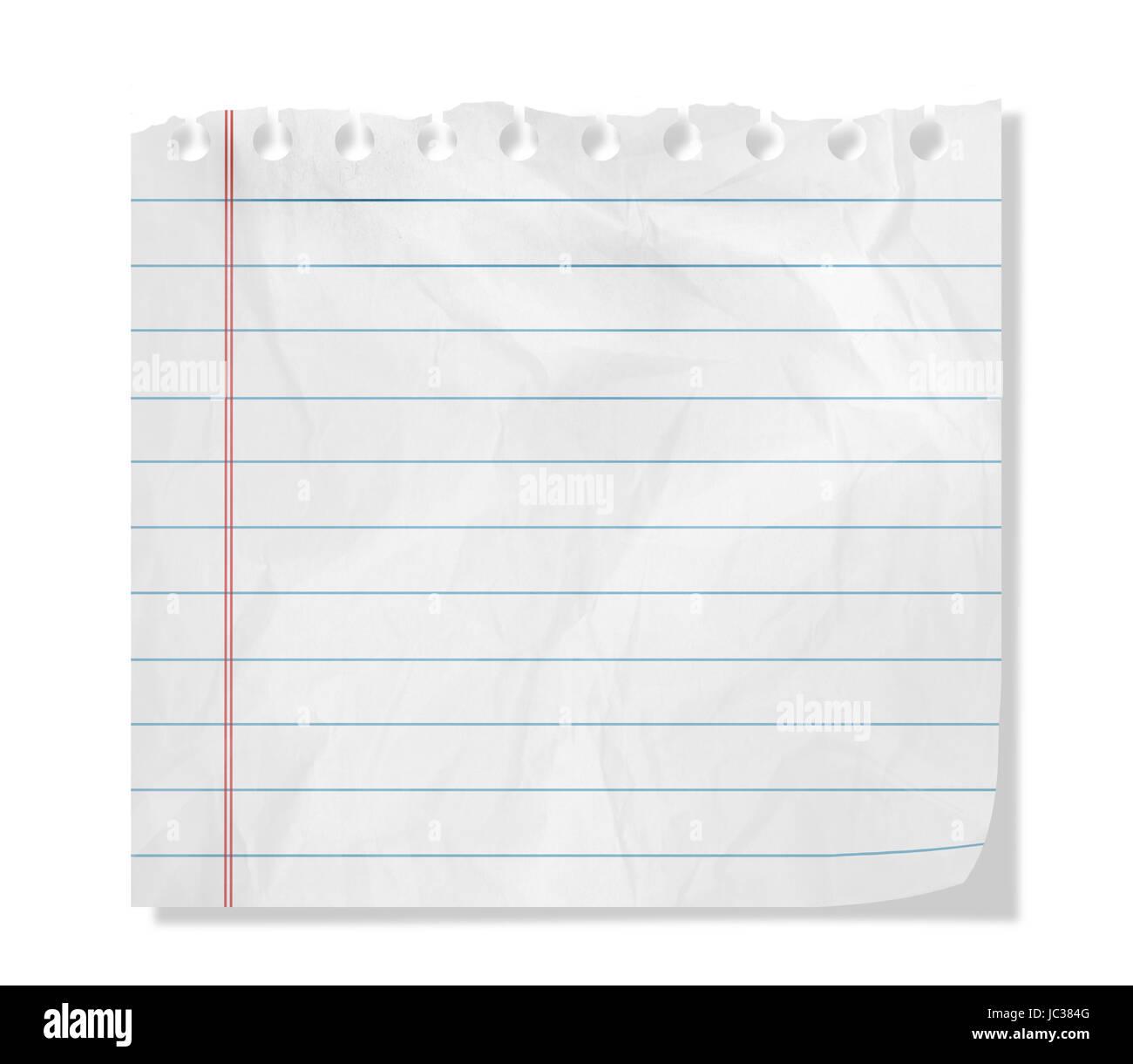 Feuille de papier, l'espace vide Banque D'Images