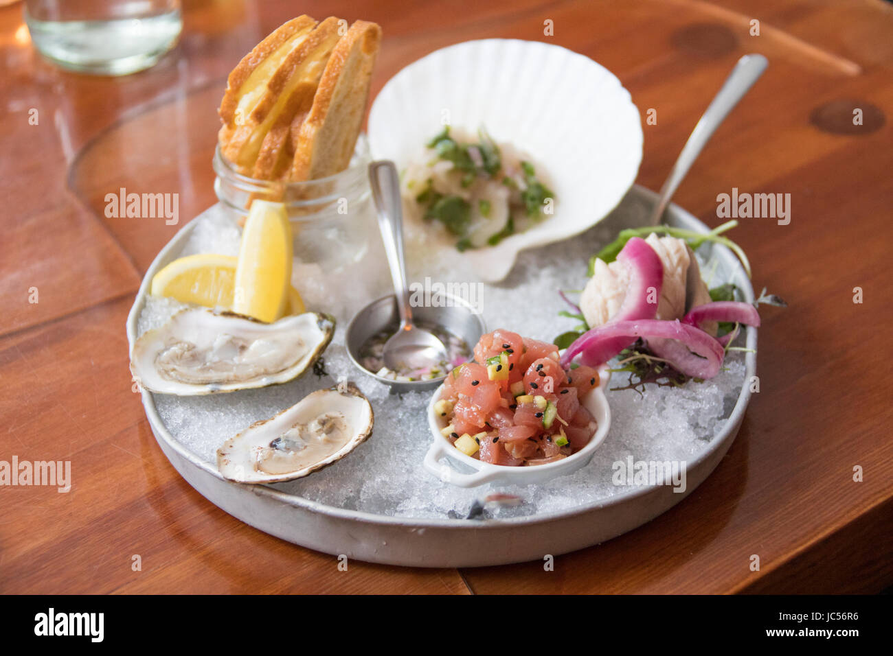 Raw Bar, restaurant d'Edna, Halifax, Nouvelle-Écosse, Canada Photo Stock