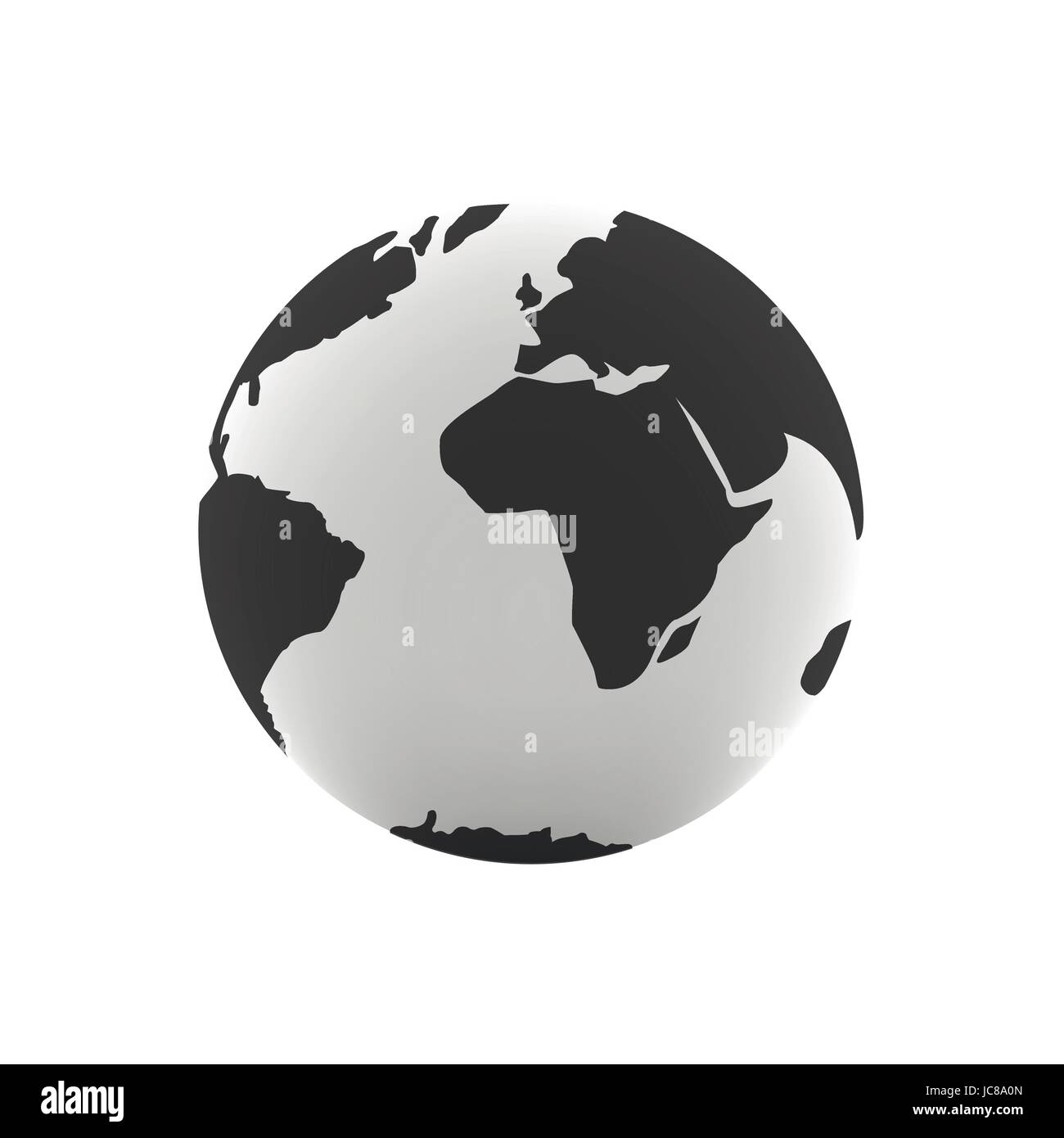 Earth globe illustration Photo Stock