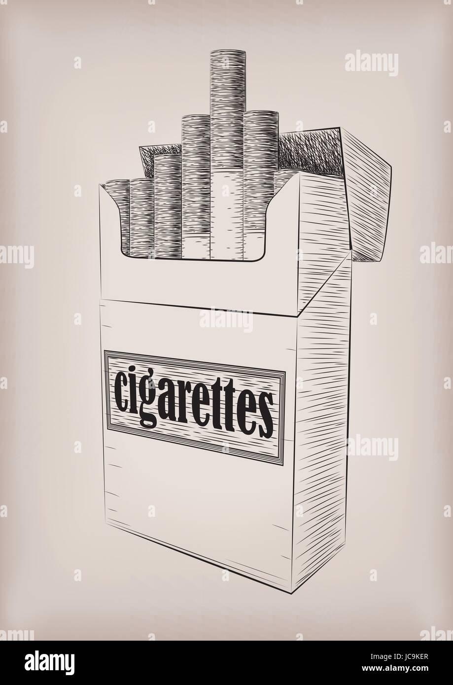 Dessin Paquet De Cigarette paquet de cigarettes cigarettes boîte en carton pleine de fumer