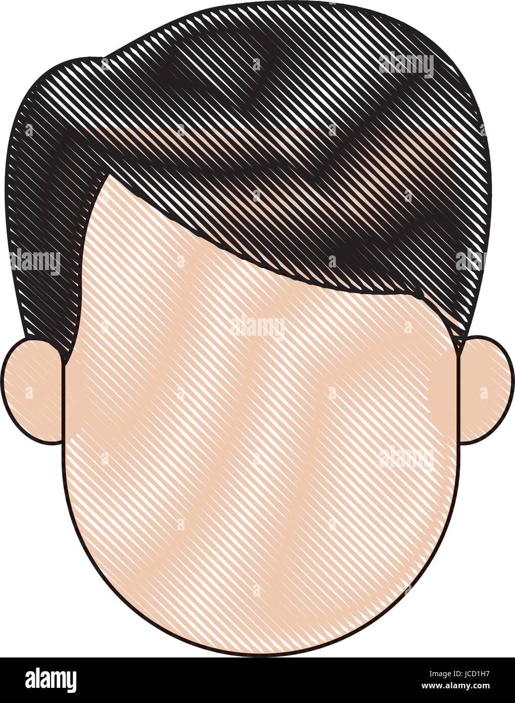 Profil De L Homme Sans Visage Cartoon Caractère Personne