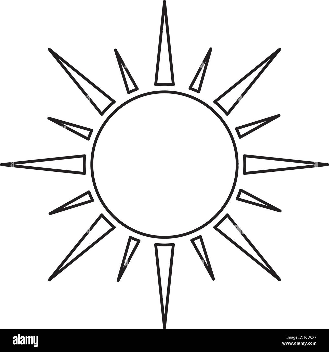 image d'icône de soleil Illustration de Vecteur