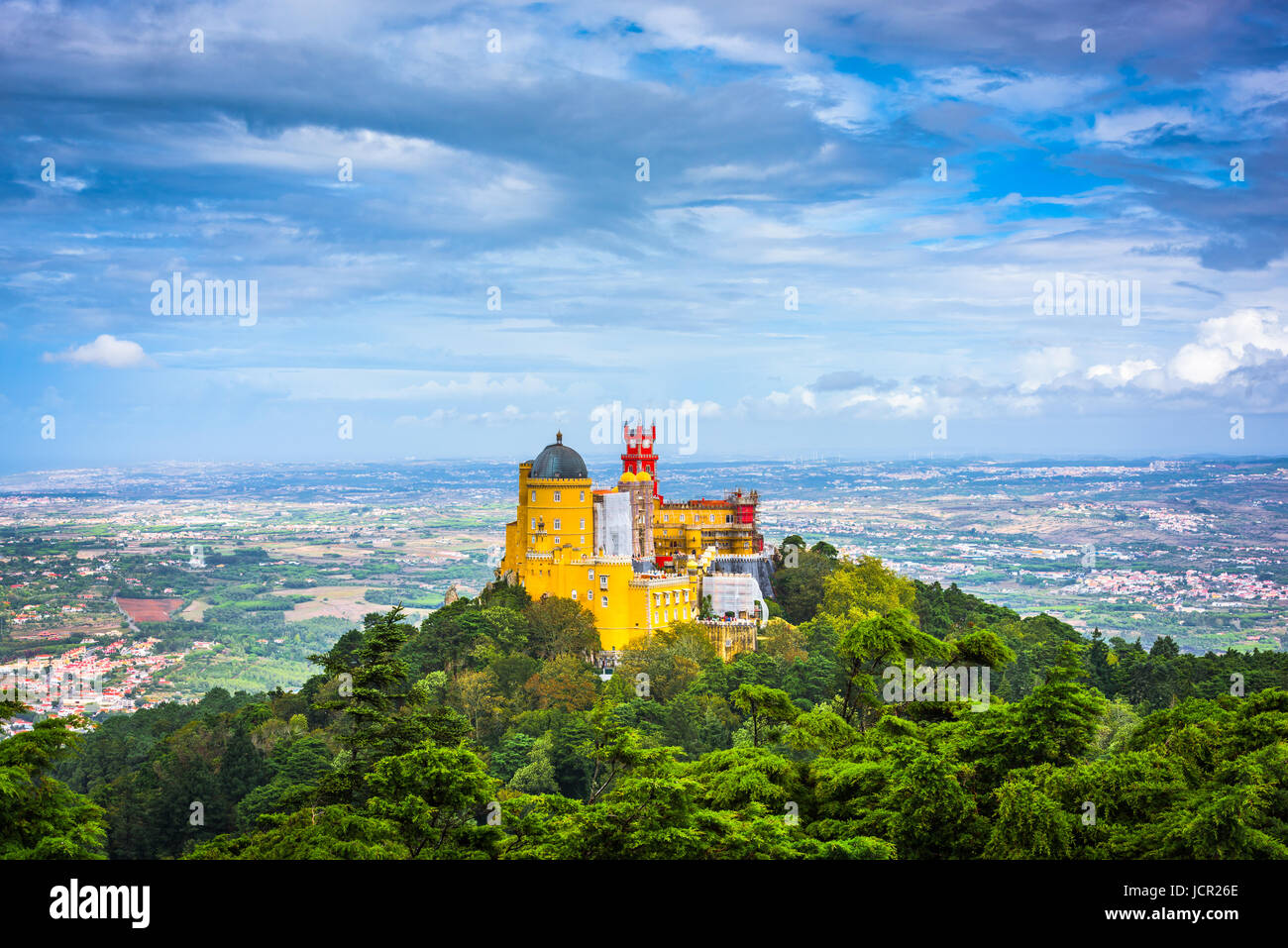 Sintra, au Portugal, au Palais National de Pena. Photo Stock