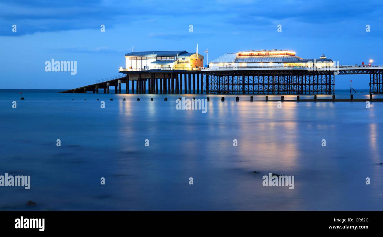 Nuit à Cromer , North Norfolk, Angleterre, Europe Photo Stock