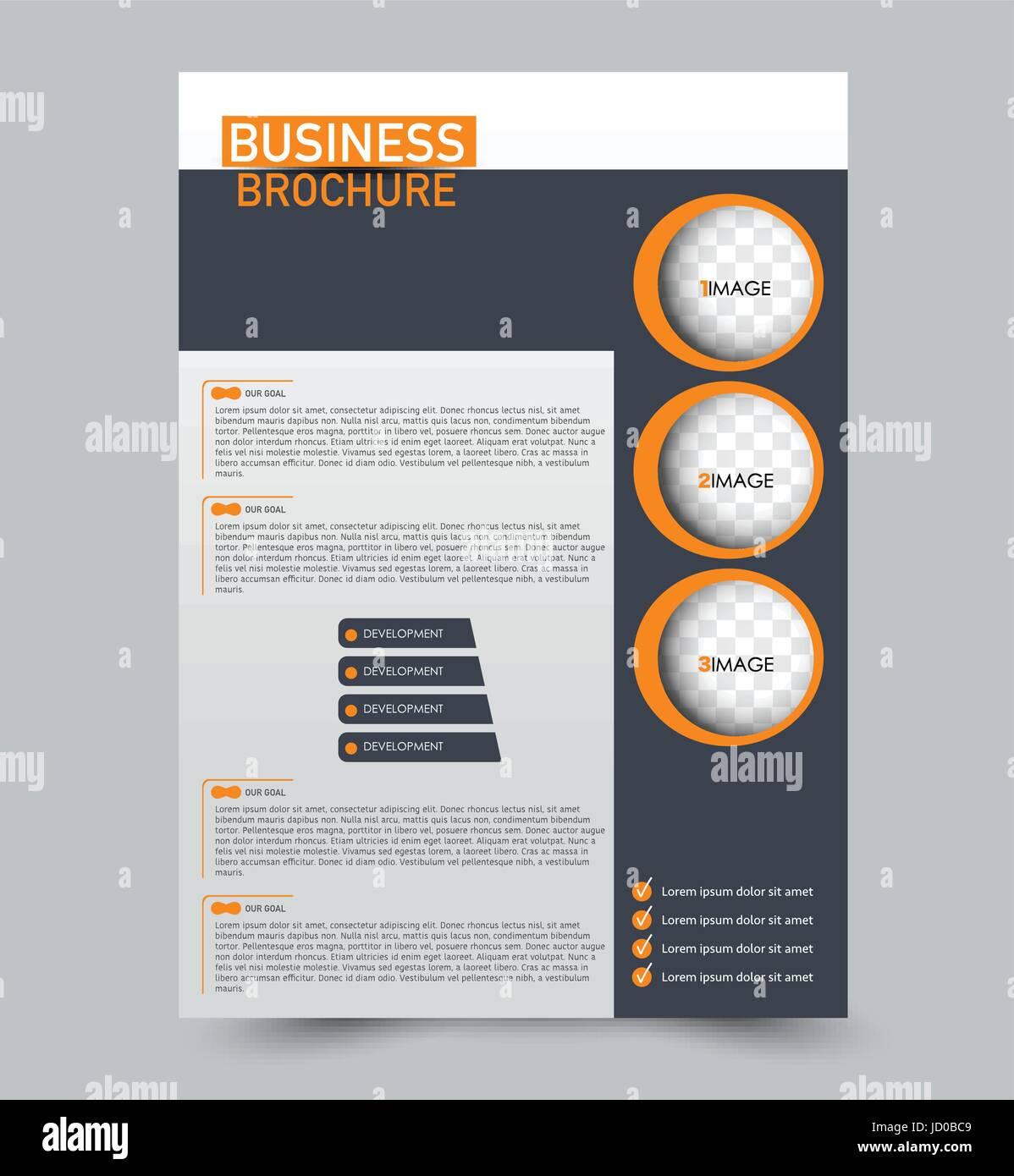 Resume Flyer Design Arriere Plan Modele De Brochure Pour La