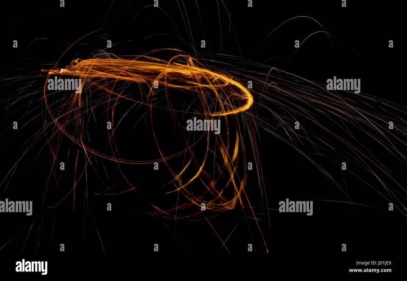 Trajectoire en orbite astéroïde Doomsday Visualisation abstraite Photo Stock