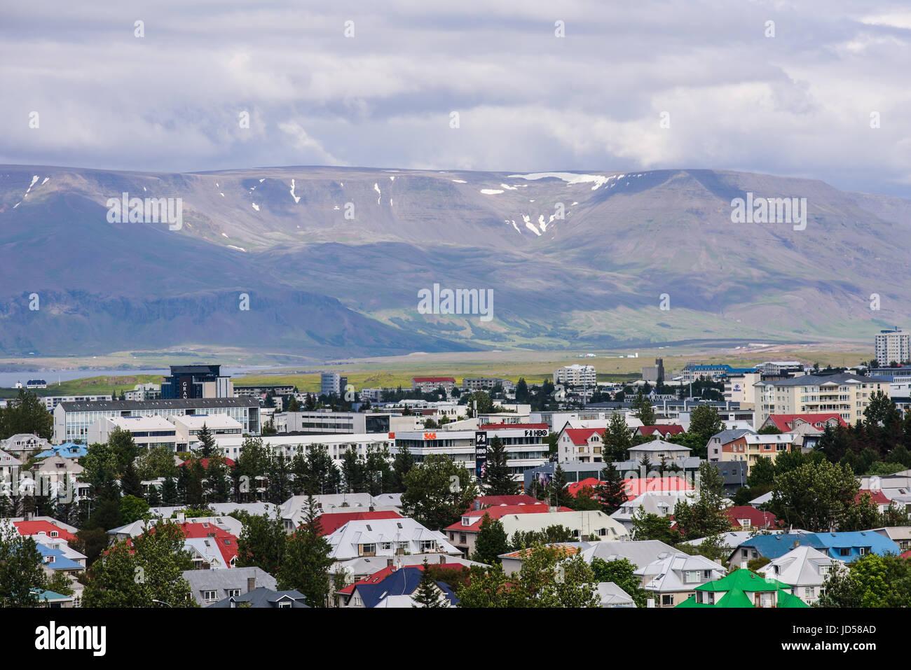 Sur les montagnes d'Islande. Photo Stock