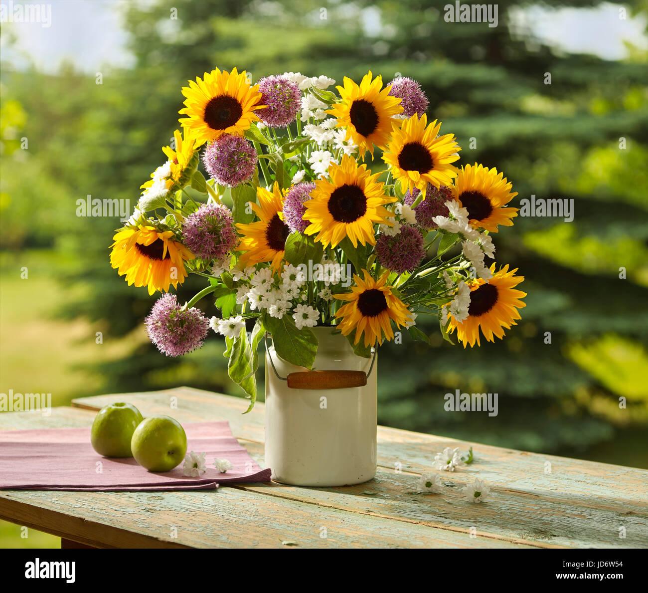 bouquet de fleurs de tournesol banque d'images, photo stock